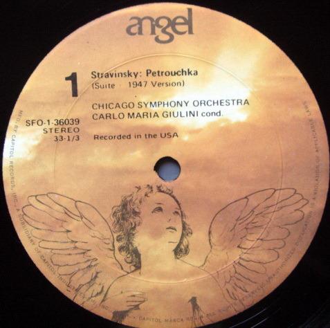 EMI Angel / GIULINI, - Stravinsky Petrouchka-Firebird,  MINT!