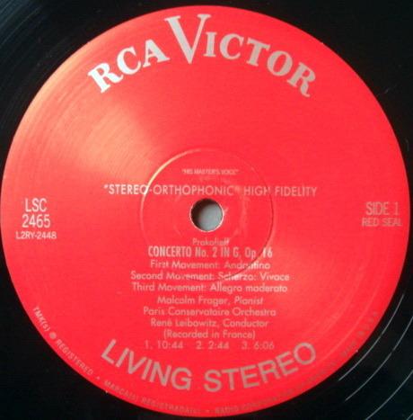 ★Audiophile 180g★ RCA-Alto Records /  - FRAGER-LEIBOWITZ, Prokofieff Piano Concerto No.2, NM (OOP)!