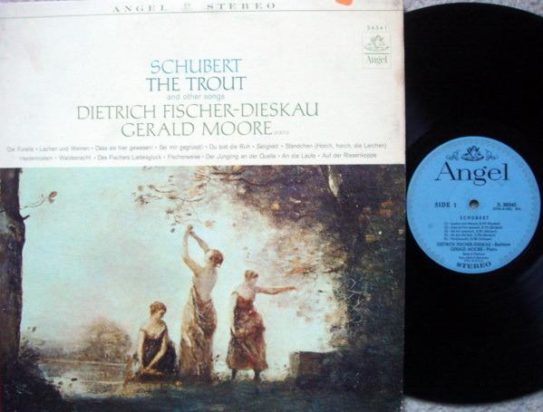 EMI Angel Blue / FISCHER-DIESKAU, - Schubert The Trout and Other Songs,  VG+!