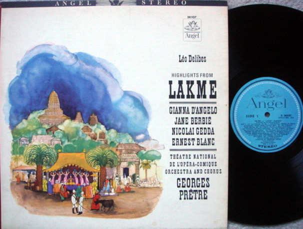EMI Angel Blue / PRETRE,  - Delibes Lakme Highkights, MINT!