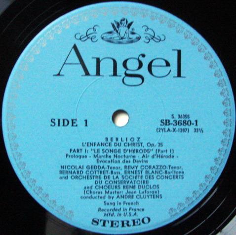 EMI Angel Blue / CLUYTENS, - Berlioz L'Enfance du Christ,  MINT, 2LP Box Set!