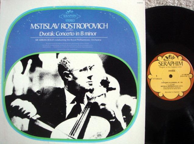 EMI Angel Seraphim / ROSTROPOVICH, - Dvorak Cello Concerto, MINT!