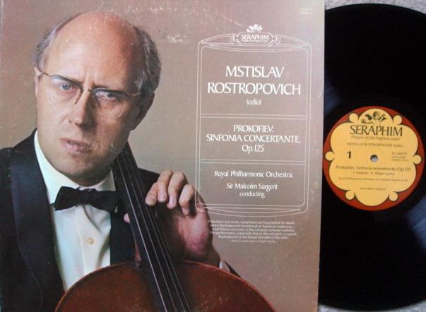 EMI Angel Seraphim / ROSTROPOVICH, - Prokofiev Sinfonia Concertante, MINT!