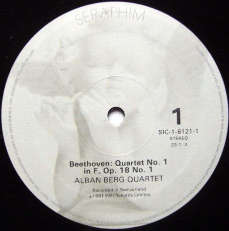 EMI Angel Seraphim / ALBAN BERG QT, - Beethoven The Early Quartets, MINT, 3LP Box Set!
