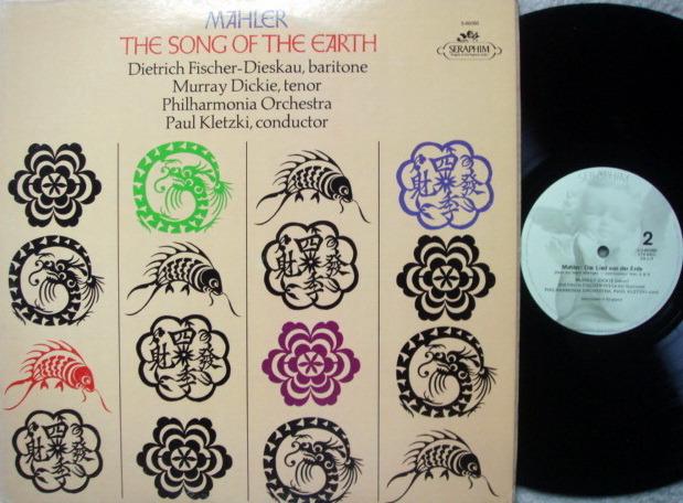 EMI Angel Seraphim / KLETZKI, - Mahler The Song of the Earth,  NM!