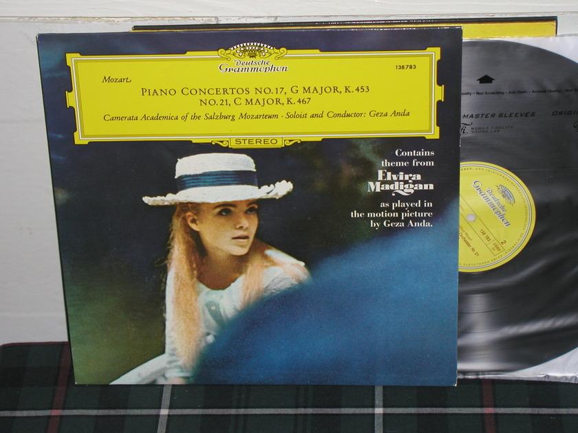Geza Anda/Casm - Mozart Ctos 17/21 LP DG german import  press