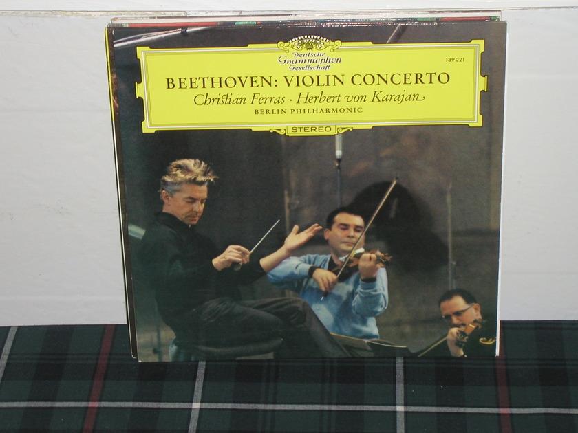 Von Karajan/BPO - Beethoven Violin Ct   LP DG german import  press