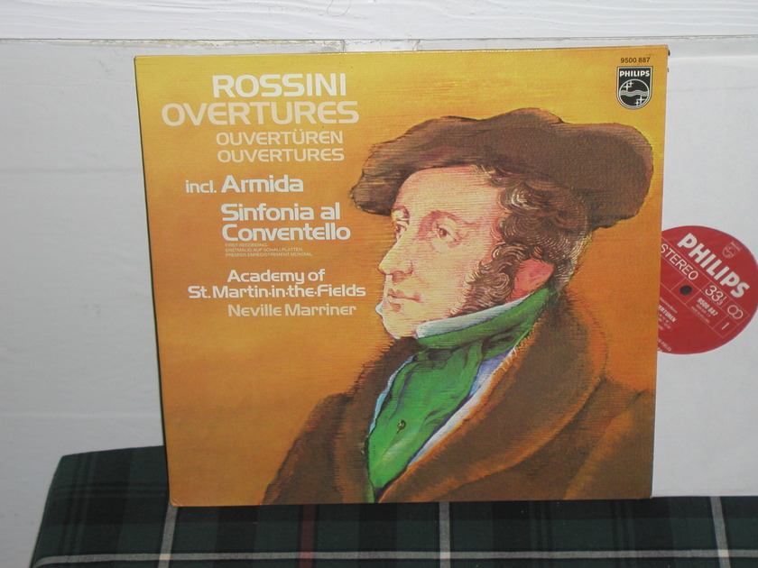 Marriner/AoStMitF - Rossini Overtures Ar Philips Import Pressing 9500