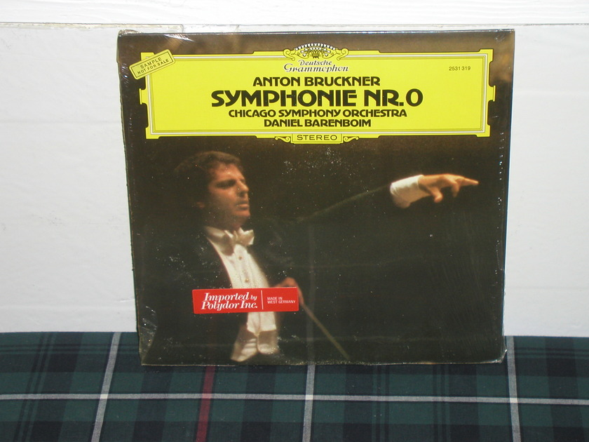 Barenboim/Cso - Bruckner Sym No 0 DG German import  LP