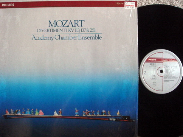 Philips Digital / ACADEMY CHAMBER ENSEMBLE, - Mozart Divertimentos, MINT!
