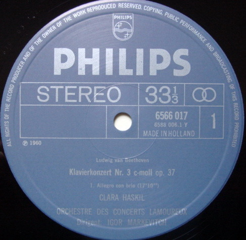 Philips / HASKIL-MARKEVITCH, - Mozart Piano Concerto No.3, MINT!