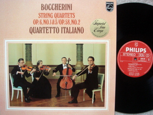 Philips / QUARTETTO ITALIANO, - Boccherini String Quartets No.1-3, MINT!