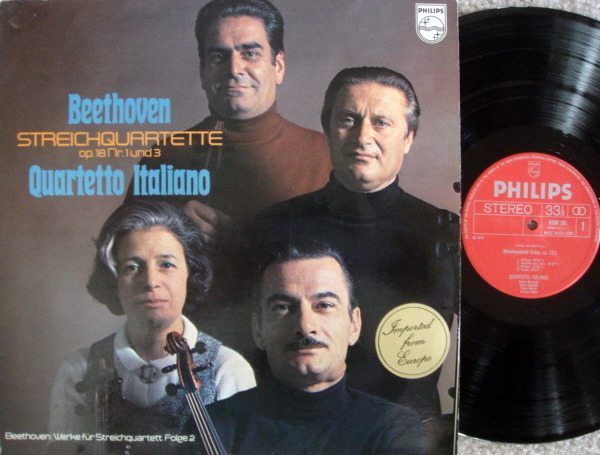 Philips / QUARTETTO ITALIANO, - Beethoven String Quartets Op.18 No.1 & 3,  MINT!