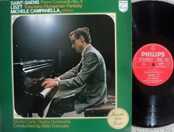 Philips / CAMPANELLA, - Saint-Saens Piano Concerto No.4,  MINT!