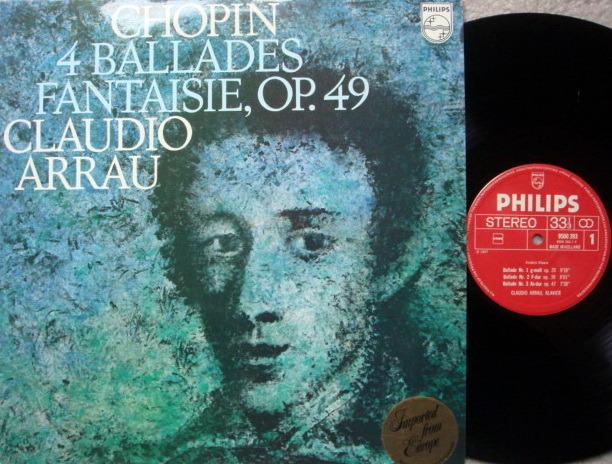 Philips / ARRAU, - Chopin 4 Ballades & Fnatasie, MINT!