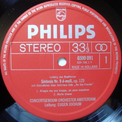 Philips / JOCHUM, - Beethoven Symphony No.9 Chorale,  MINT, 2LP Box Set!