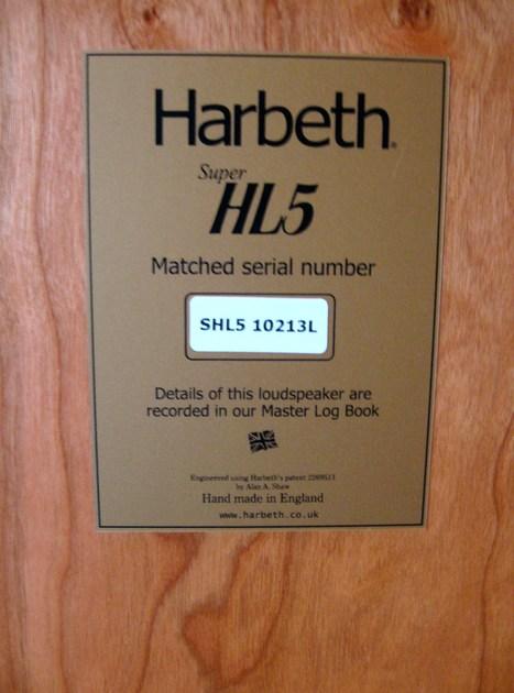 Harbeth Super HL5 speakers, like new, mint