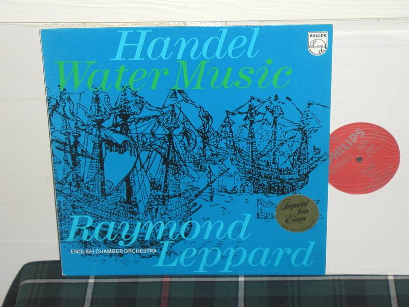 Leppard/ECO - Handel Water Music Philips Import LP 6500