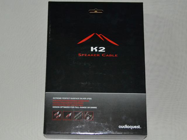 AudioQuest K2  terminated speaker cable - UST plugs 8' (2.5m) pair