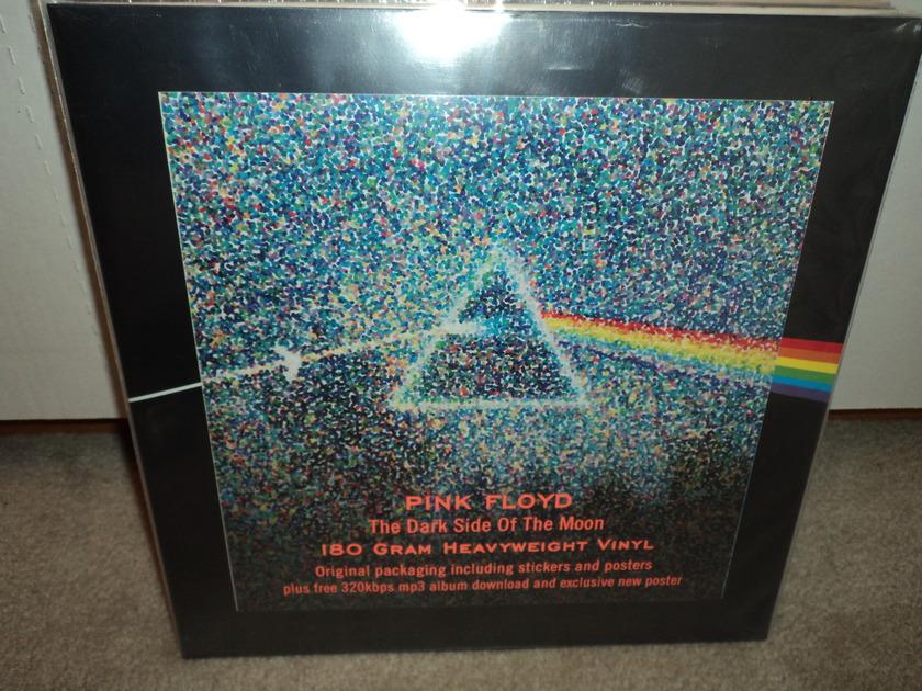 Pink Floyd  - Dark Side Of The Moon (30th Anniversary) w/ Stickers & Poster Audiophile Virgin Vinyl Record Album LP   SEALED BRAND NEW 180 gram