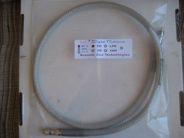 Acoustic Zen MC2 Digital Interconnect Brand New One meter silver cable