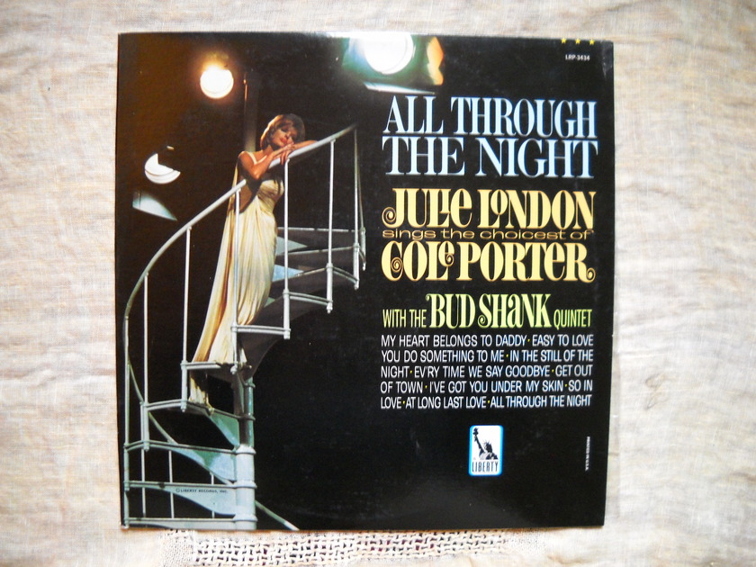 All Through the Night:  Julie London - (Sings the Choicest Cole Porter) w/The Bud Shank Quintet  SEALED