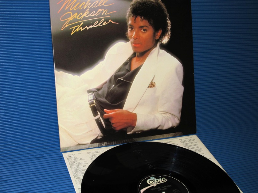 """MICHAEL JACKSON - - """"Thriller"""" -  Epic 1982 early pressing"""