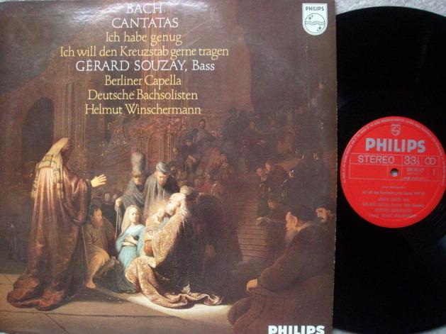 Philips / SOUZAY, - Bach Cantatas BWV.56& 82, MINT, Early Press!