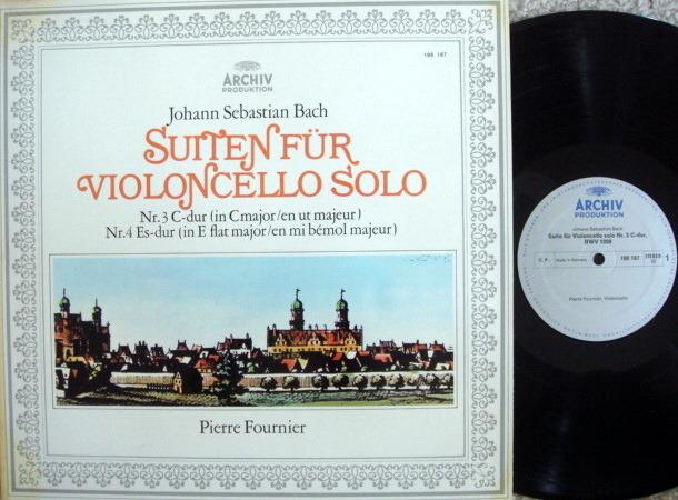 Archiv / FOURNIER, - Bach Suites for Cello Solo No.3 & 4, MINT!