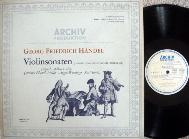 ★1st Press★ Archiv / MELKUS, - Handel Violin Sonatas,  MINT, 2 LP Set!