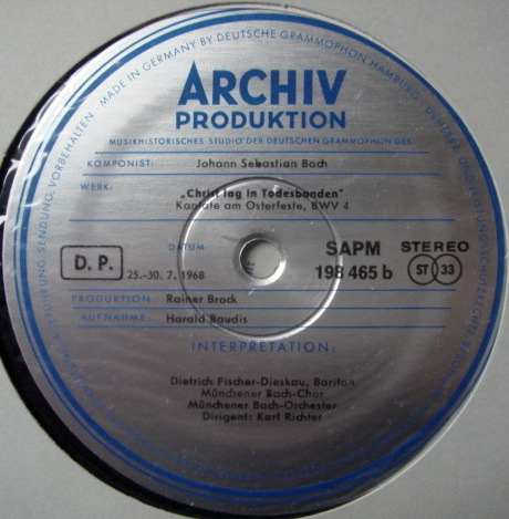 ★1st Press★ Archiv / RICHTER, - Bach Cantatas BWV.1& 4, MINT!
