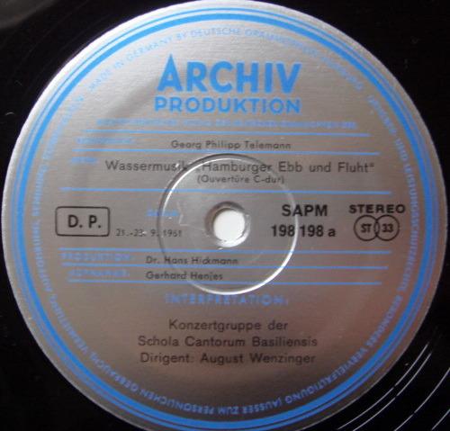 ★1st Press★ Archiv / WENZINGER, - Telemann Overture in C, Suite No.6, MINT!
