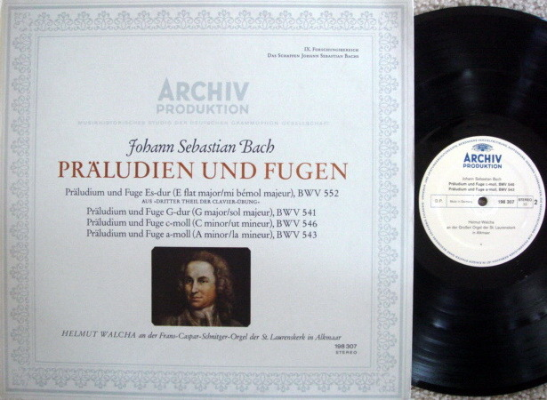 Archiv / WALCHA, - Bach Preludes & Fugues, MINT!
