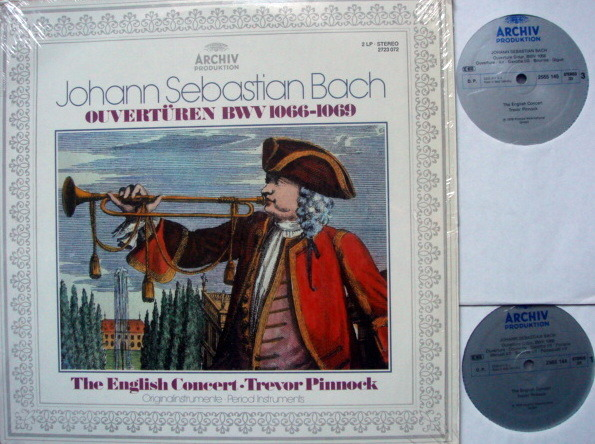 Archiv / PINNOCK, - Bach Complete Suites for Orchestra, MINT, 2 LP Set!