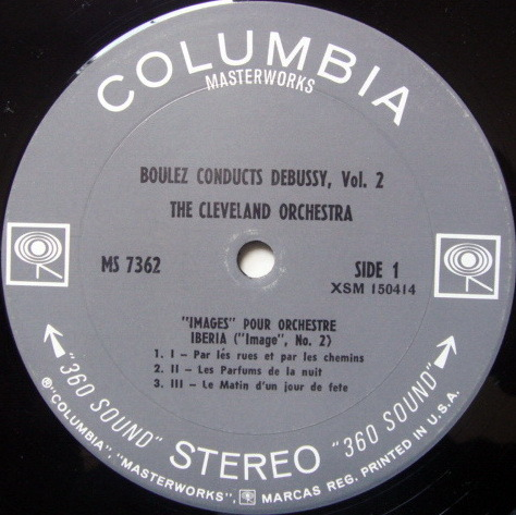 Columbia 2-EYE / BOULEZ,  - Debussy Images for Orchestra, MINT!