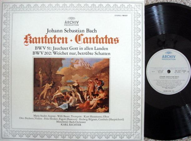Archiv / RICHTER, - Bach Cantatas BWV.51 & 202, MINT!
