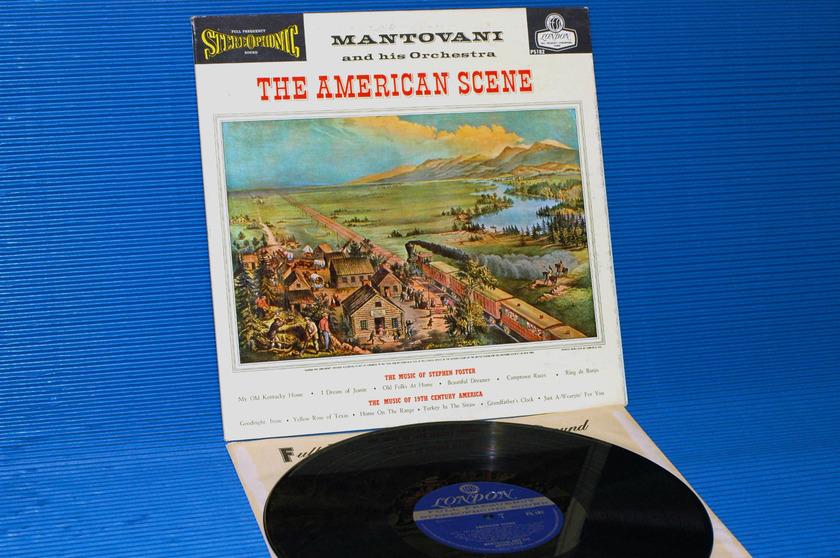 "MANTOVANI -  - ""The American Scene"" -  London Blue Back 1960 1st pressing"