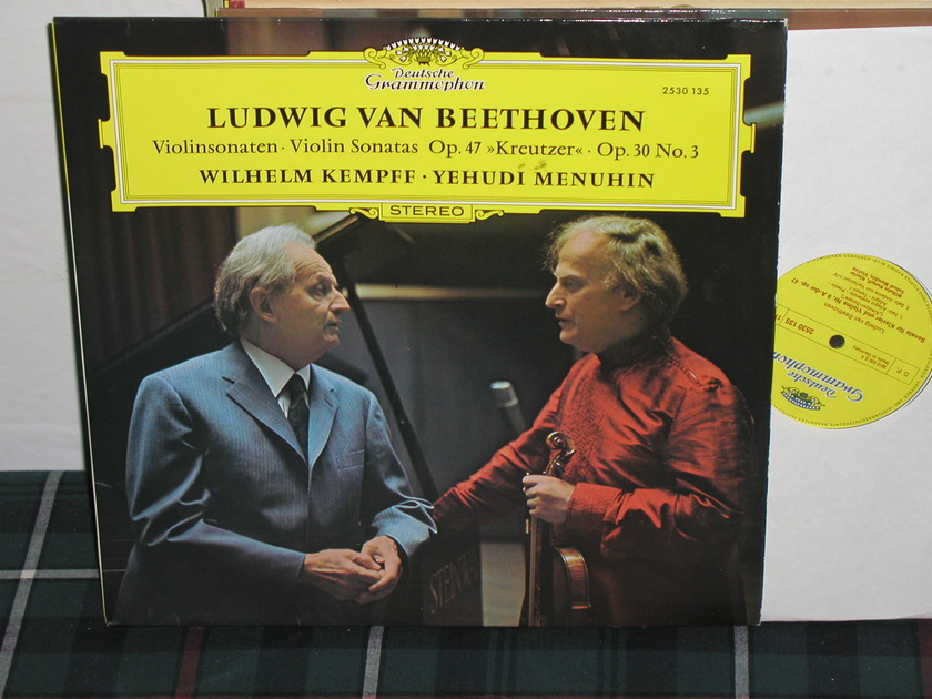 Menuhin/Kempff - Beethoven Sonatas DG German import LP