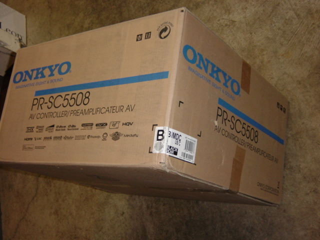 Onkyo PR-SC5508 Processor and Onkyo PA-MC5500 9-Channel Amplifier, both are NEW in Factory boxes and ready to be the center of your Home Theater, They come with full features as show below