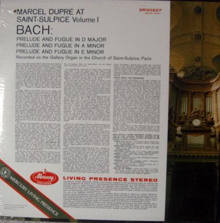 ★Sealed★ Mercury / DUPRE, - Bach at Saint Sulpice, Vol.1, Original, Color-Back!