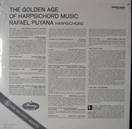 ★Sealed★ Mercury / PUYANA, - The Golden Age of Harpsichord Music, Original!