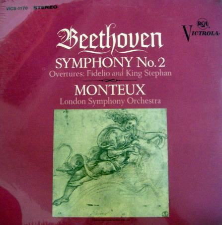 ★Sealed★ RCA Victrola / MONTEUX, - Beethoven Symphony No.2, Original!