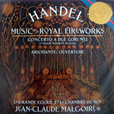 ★Sealed★ CBS / MALGOIRE, - Handel Royal Fireworks, Concerto a Due Cori No.2!