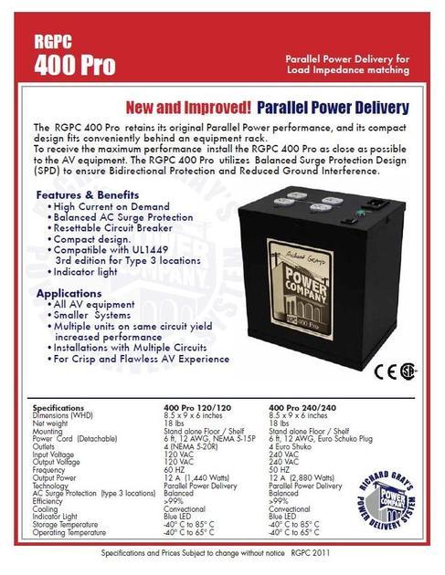 Richard Gray Power Company 400 Pro Power Purifier