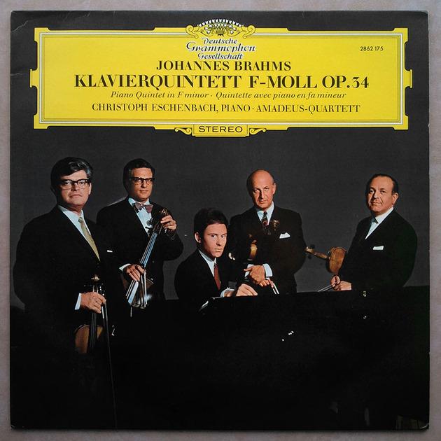 DGG/Eschenbach/Amadeus Quartet/Brahms - Piano Quintet in F minor / NM