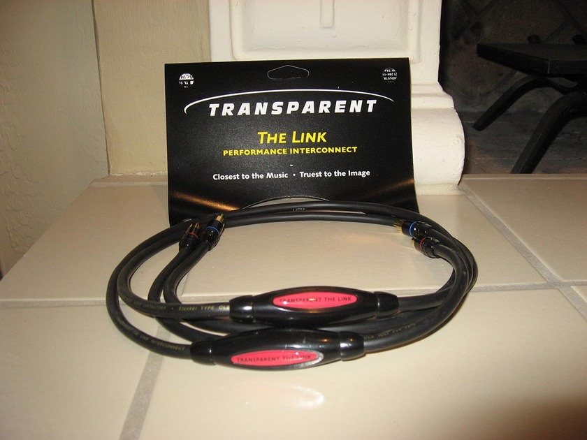 Transparent Audiio The Link 1 Meter RCA Interconnects