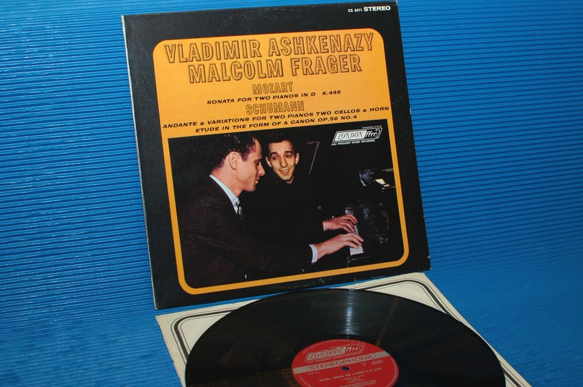 "MOZART/Ashkenazy/Frager  -  - ""Sonata for 2 Pianos"" -  London 1964 early pressing"