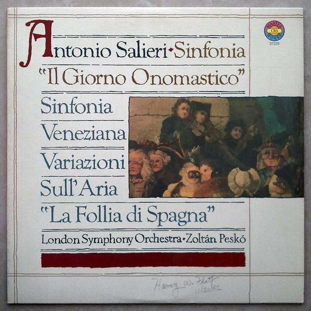 """CBS/Salieri - Symphonies """"Il Giorno onomastico"""" & """"La Veneziana"""" / EX"""