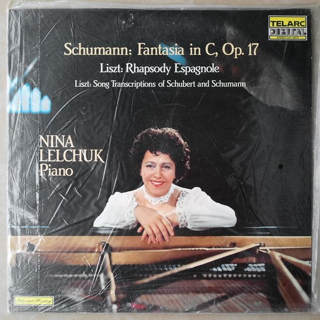 SEALED Audiophile Telarc/Nina Lelchuk/Schumann - Fantasia in C Op.17, Liszt Rhapsody Espagnole, Song Transcriptions of Schubert and Schumann