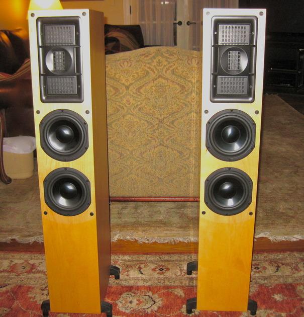 BG Radia Corp Z-92 Planar Ribbon Loudspeakers Maple